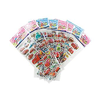 Cars stickers in 3D-4 Sheets (about 72 PCs)