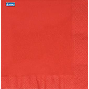 Swantex 3 Ply Red Napkins 40cm