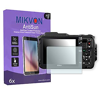 Nikon COOLPIX AW120 Screen Protector - Mikvon AntiSun (Retail Package with accessories)