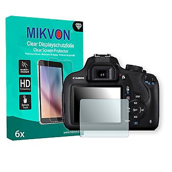 Canon EOS 1200D Screen Protector - Mikvon Clear (Retail Package with accessories)
