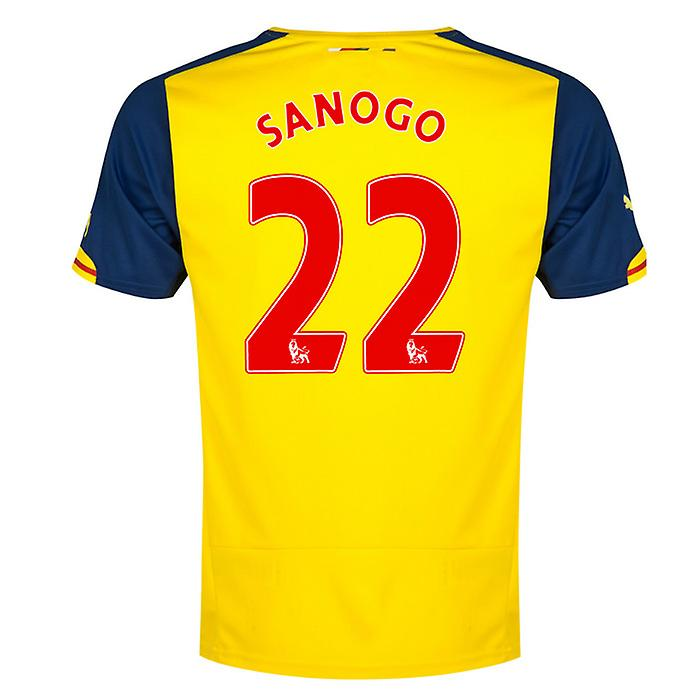 2014-15 Arsenal Away Shirt (Sanogo 22) - Kids