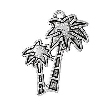 Paket 4 x antik Silver tibetanska 25mm Palm Tree Charm/hänge ZX12920