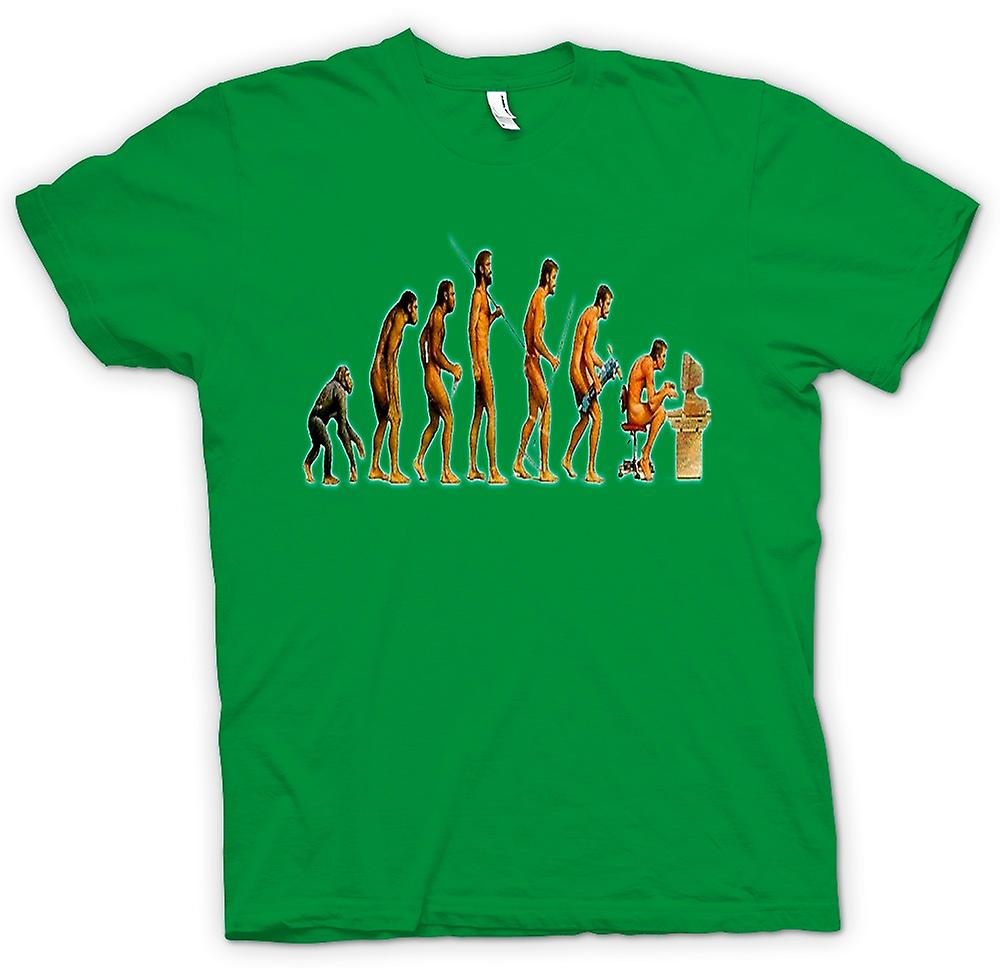 Mens T-shirt - Mans Evolution - lustig