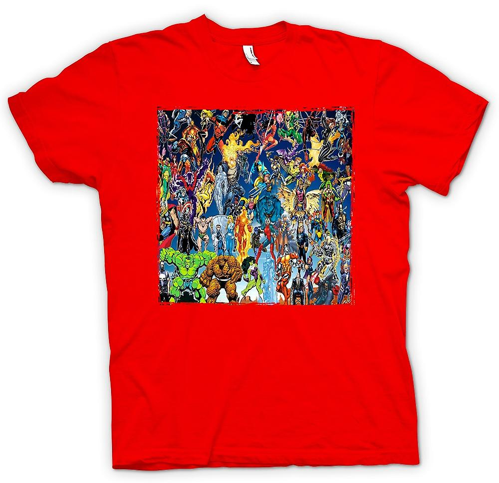 Herren T-Shirt - Marvel Comic Superheld - Collage