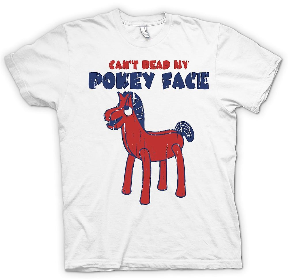 Mens T-shirt - Cant Read My Pokey Face - Funny