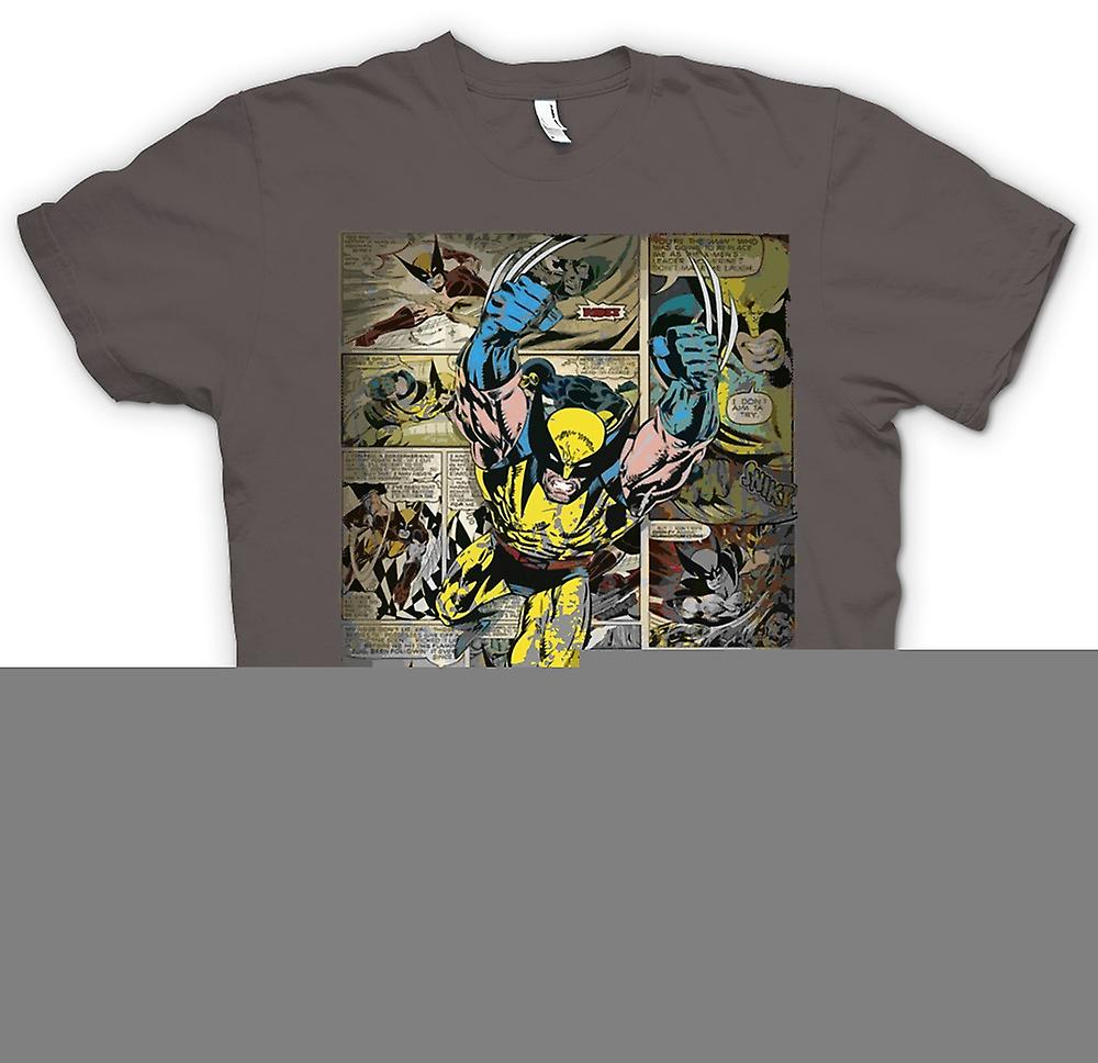 Mens T-shirt - Wolverine Comic-Strip - Superhero