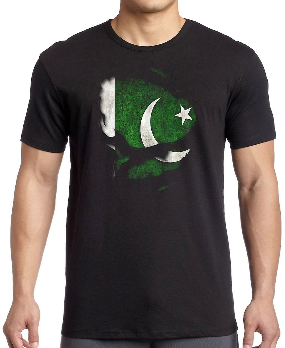 Pakistan Ripped Effect Under Shirt T Shirt