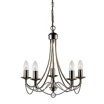 Searchlight 6345-5AB Maypole 5 Light Antique Brass Ceiling Pendant