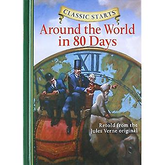 Classic Starts: Around the World in 80 Days: Retold from the Jules Verne Original (Classic Starts) [Abridged] [Large Print]