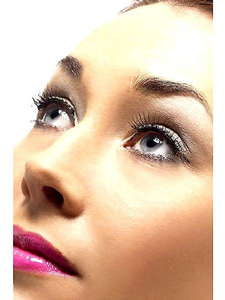 Diamante Eyelashes - black with adhesive