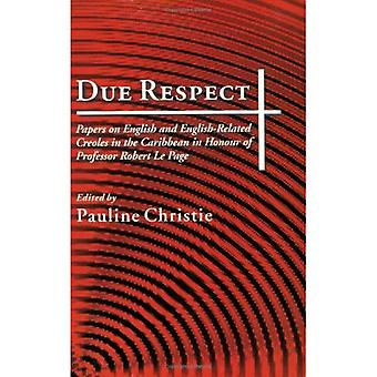 Respect Due