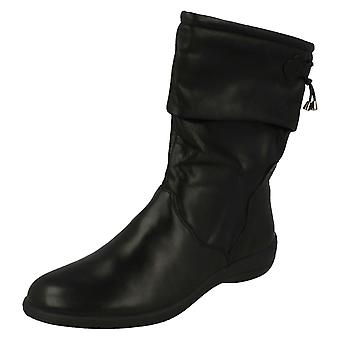 Ladies Padders Wide Fitting Black Leather Calf Boot Regan Size 7E UK