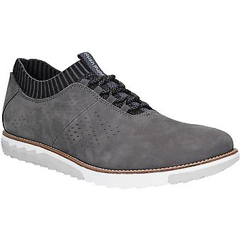 Hush Puppies Mens esperto Knit Oxford Lace Up Casual scarpe da ginnastica
