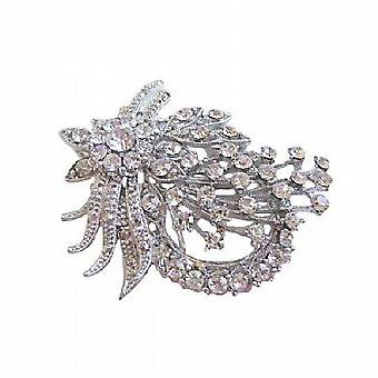 Glitrende Vintage men delikat brosje med simulert diamanter