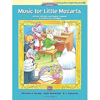 Music for Little Mozarts Notespeller & Sight-Play Book, Bk 3: Written Activities and Playing Examples to Reinforce Note-Reading (Music for Little Mozarts)
