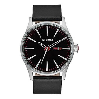 Nixon analog quartz watch with leather band _ A105000-00