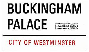 Buckingham Palace medium sized enamel steel sign
