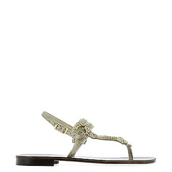 Emanuela Caruso Green Leather Sandals