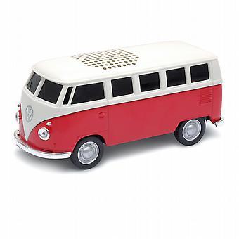 Officielle VW Camper Van Bluetooth trådløs musik højttaleren - rød