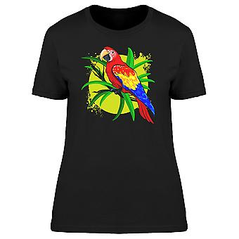 Lovely Tropical Ara Macaw Doodle Tee Women's -Image by Shutterstock
