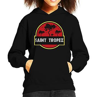 Saint Tropez Jurassic Park Logo Kid's Hooded Sweatshirt