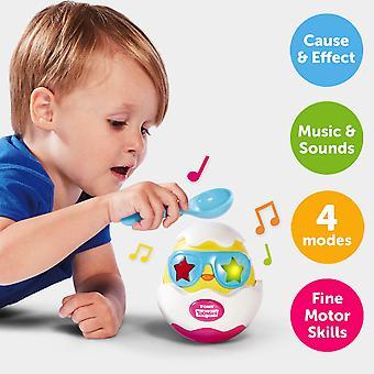 TOMY Toomies slå det ägg lampor och ljud musikaliska Chick i ägg leksak