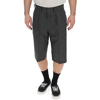 Junya Watanabe Grey Wool Shorts