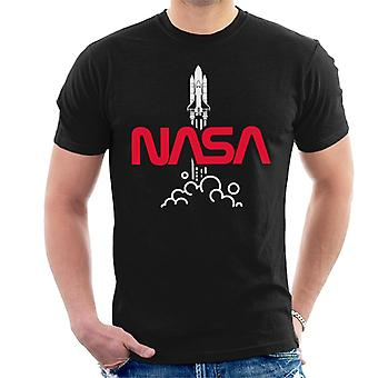NASA Shuttle Start Logo Herren T-Shirt