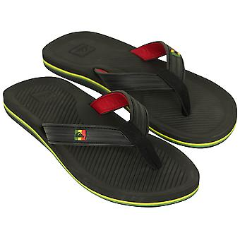 Quiksilver Mens Haleiwa Deluxe Sandals - Black/Red/Green