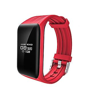 K1 Activity bracelet with Continuous heart rate monitor-Red