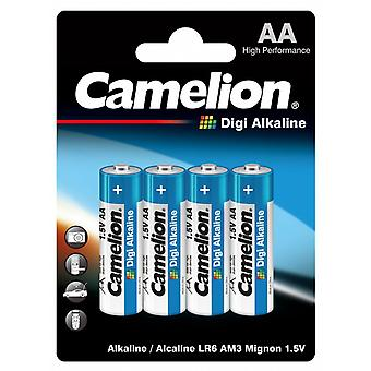 Batteri AA 4-pack, LR6 Camelion Digi Alkaline batterier