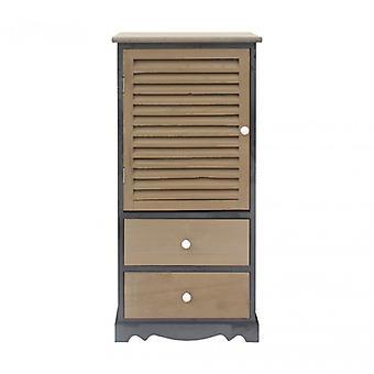 Rebecca möbler skåp säng bord trä grå svart 2 lådor 1 badrum dörr