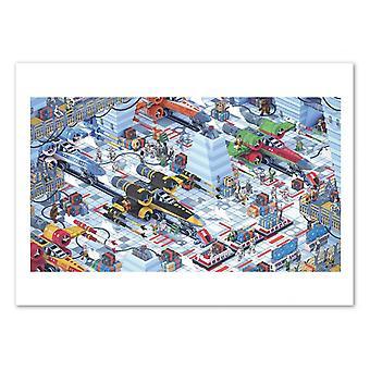 Konst-affisch-Hoth Star Wars 3D ISO metrisk-Bigo 50 x 70 cm