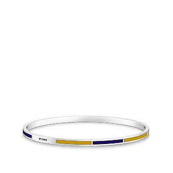 San Francisco State University Sf State Engraved Two-Tone Enamel Bracelet In Purple And Yellow