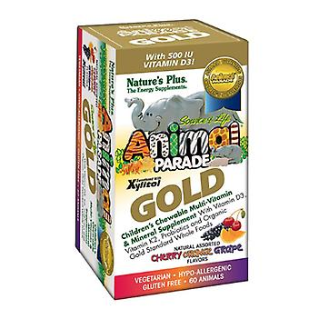 Nature's Plus Animal Parade Gold Chewable Multi Assorted Flavours 60 (29927)