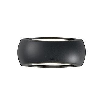 1 Light Outdoor Wall Light Black Ip66