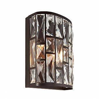 1 Light sisätiloissa Wall Light tumma pronssi Crystal