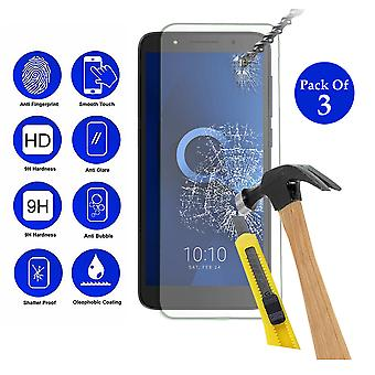 Pack of 3 Tempered Glass Screen Protection For Alcatel 1C 2019 5.3
