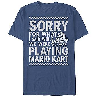 Nintendo Sorry für das, was ich sagte, wenn wir spielten Mario Kart T-Shirt blau