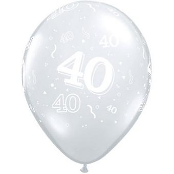 Qualatex 11 Inch Clear 40 Around Latex Balloon (Pack Of 50)