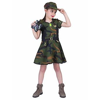 Army Girl Children's Costume Soldier Costume Carnival Carnival Heroine Warrior Kids