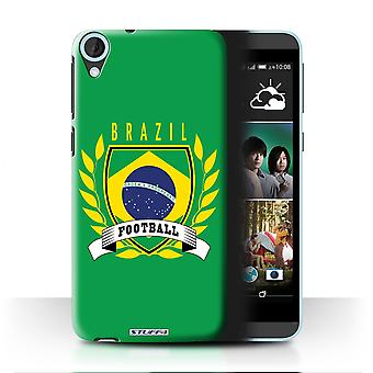 STUFF4 Case/Cover for HTC Desire 820q Dual/Brazil/Brazilian/Football Emblem