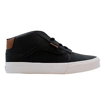 Vans Chapman Mid Black/True White Leather VN0A38J4K55 Grade-School