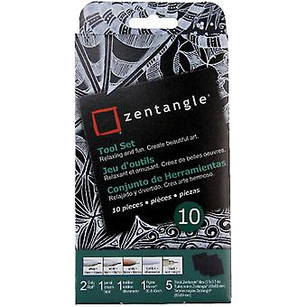 Zentangle Tool Set 10pc-Black Tiles 50111