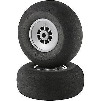 Model airplane foam rubber wheels Lightweight Reely 57 mm 1 pair