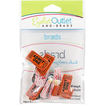 Eyelet Outlet Shape Brads 12/Pkg-Popcorn Ticket QBRD2-24