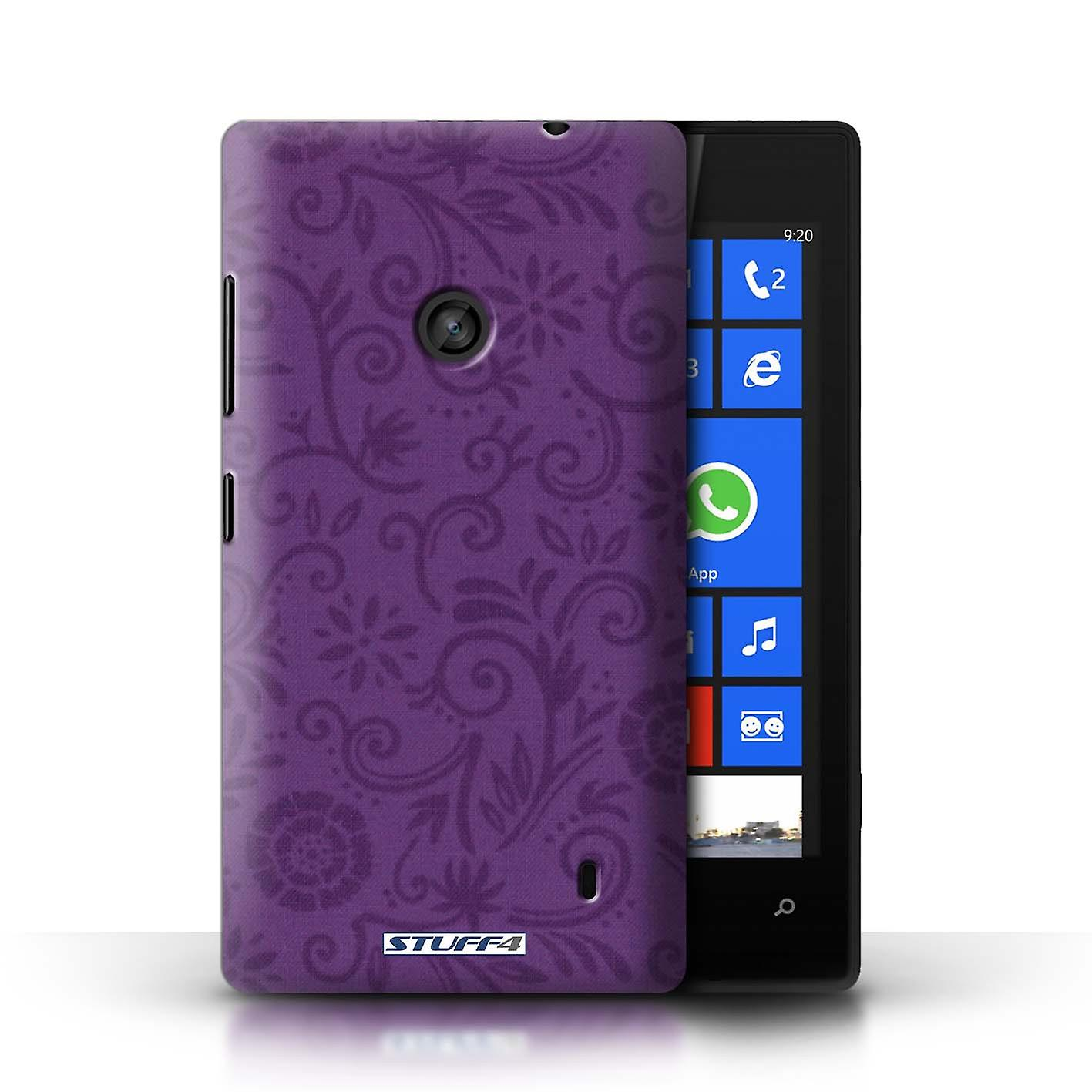 STUFF4 Case/Cover For Nokia Lumia 520/Purple Flower/Floral