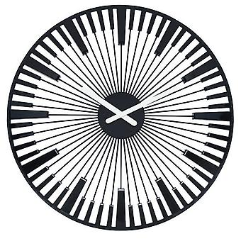 Koziol Piano Black Wall Clock