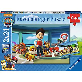 Ravensburger 2x24 Puzzle Paw Patrol (Toys , Boardgames , Puzzles)