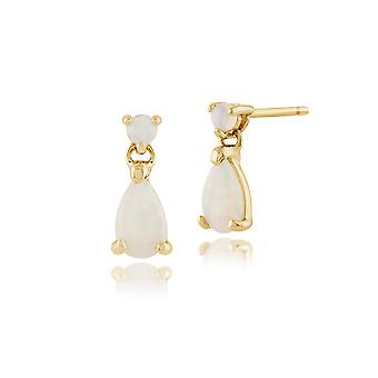 Gemondo 9ct Yellow Gold 0.30ct Opal Drop Earrings
